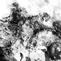 黑白抽象装饰画