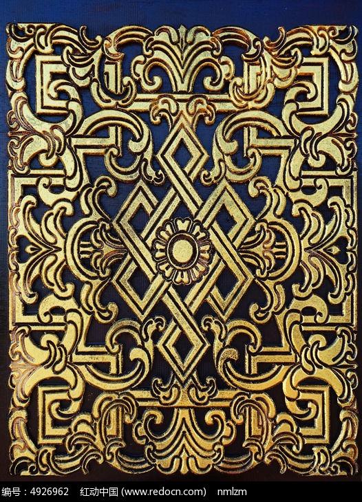 蒙古族风格木门装饰图案图片