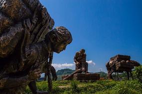 茶马古道雕像
