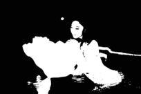 黑白抽象美女艺术背景