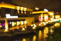 城市夜景霓虹灯