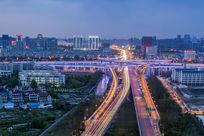 杭州城市建筑夜景