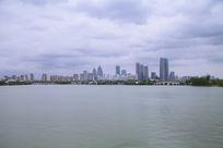 苏州园区金鸡湖畔风光
