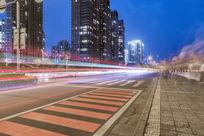 中国杭州城市建筑夜景