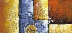抽象艺术画 现代简约抽象油画