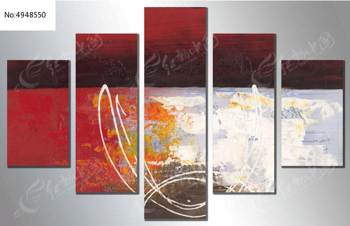 多联抽象装饰画图片