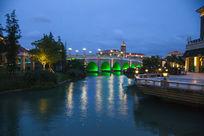 美丽的欧式建筑桥