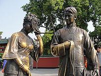喜庆半身铜像
