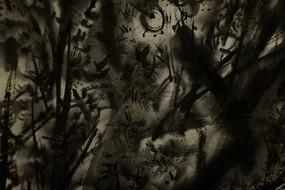 水墨竹林背景