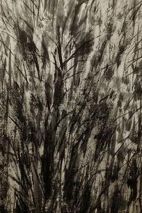 杂草丛生水墨背景