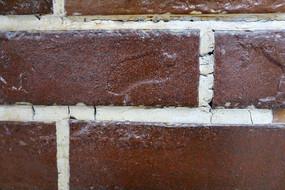 朱红色墙砖素材