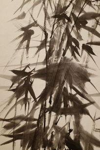 竹林风动水墨背景