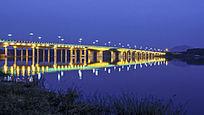 沭河大桥夜景