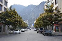 理县县城的街道