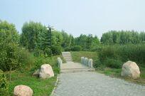 水上公园的小桥