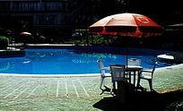 海南兰洋温泉露天泳池图片