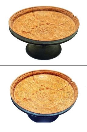 汉代陶豆盘
