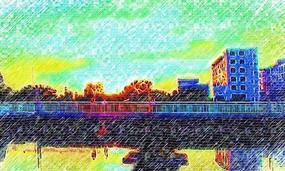 建筑风景写生