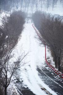 雪山上的路
