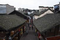 凤凰古城民居特色石板老街