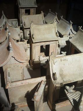 古代四合院模型俯视图