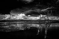 云南高动态黑白照片