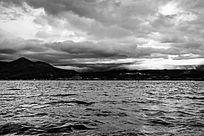 云南黑白湖景