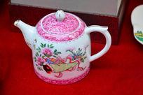 牡丹琵琶陶瓷茶壶