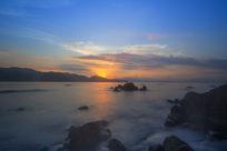 霞光青海湖