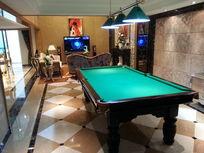 别墅地下室桌球室