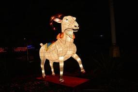 广州荔湾羊年花灯夜景