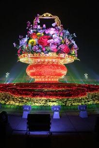 北京天安门广场国庆大花篮图片
