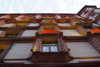 沧桑感的欧式建筑街区
