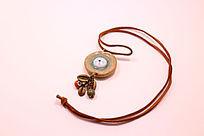 民族风圆形陶瓷彩釉毛衣链
