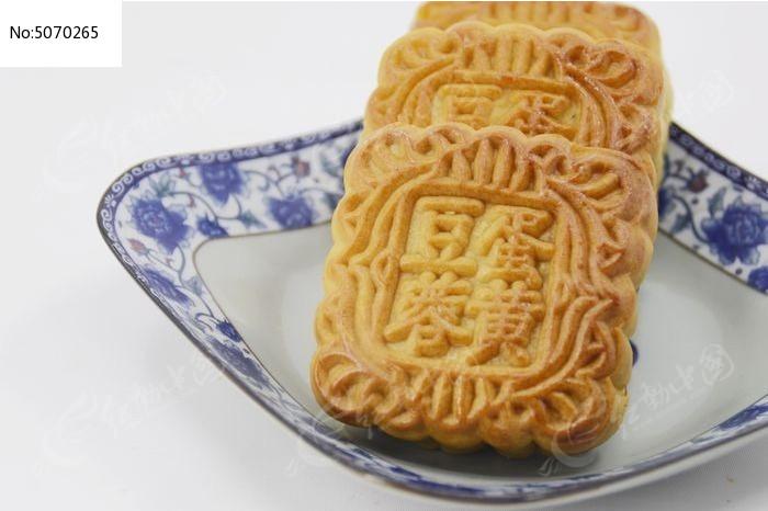 一盘传统美食中秋月饼特写图片图片