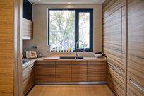 胡桃木色厨房摄影