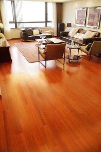客厅实木地板摄影
