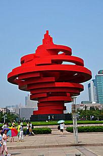 青岛五四广场雕塑