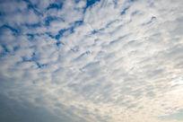 视觉冲击的蓝天白云