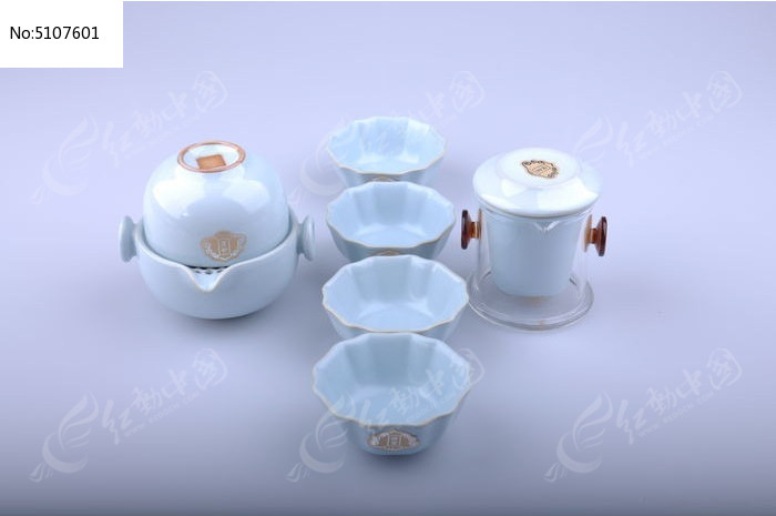 精美茶具图图片
