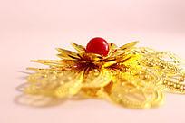 金色花朵发钗