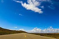 蓝蓝的高原白云蓝天