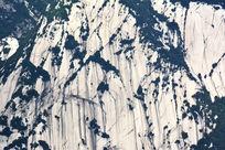 华山岩石植被斑驳肌理背景素材
