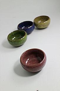 冰裂纹陶瓷茶杯多肉植物小花盆