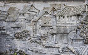 古镇纹理肌理老房子雕刻