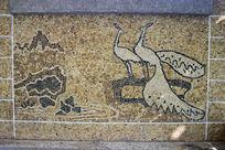 砾石孔雀图案