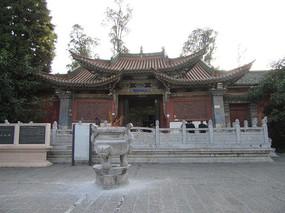 恢宏大气的古建筑土主庙