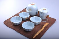精美陶瓷茶具套装细节图