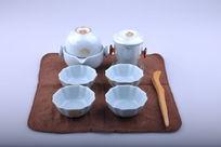 精美陶瓷茶具套装正视图