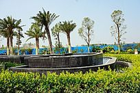 广场绿化喷池
